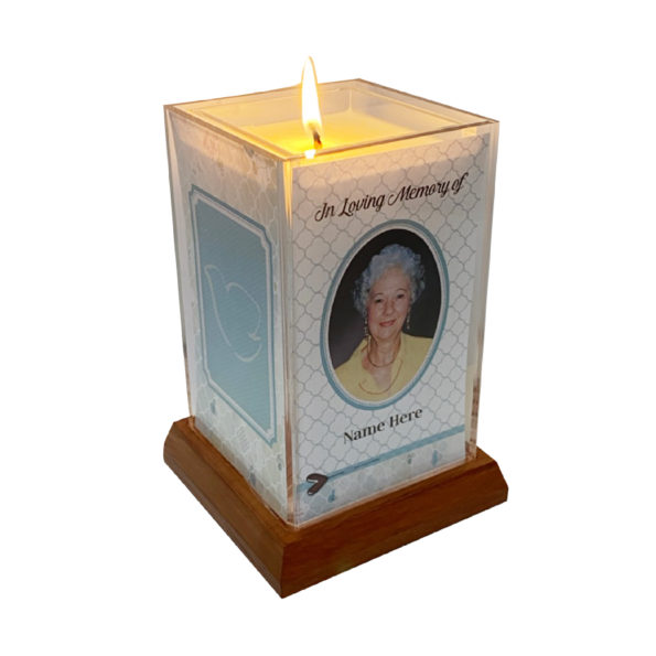 Christian Square Candle