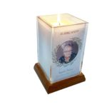 Holiday Holly Square Candle