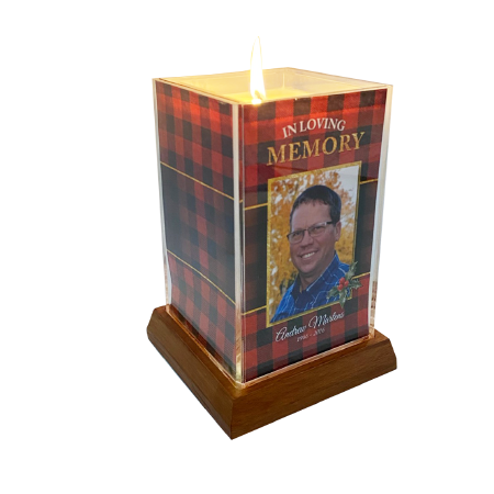 Holiday Plaid Square Candle