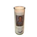 Angel Feathers Round Candle
