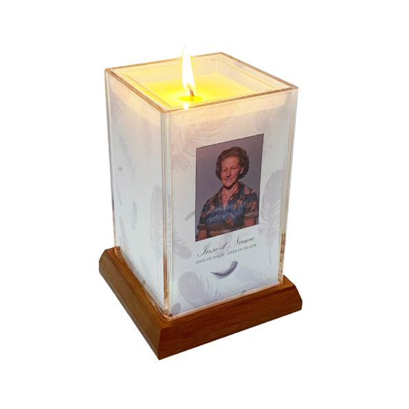 Angel Feathers Square Candle